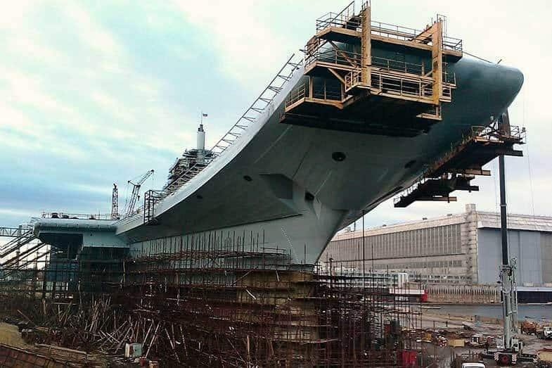 how long to build aircraft carrier