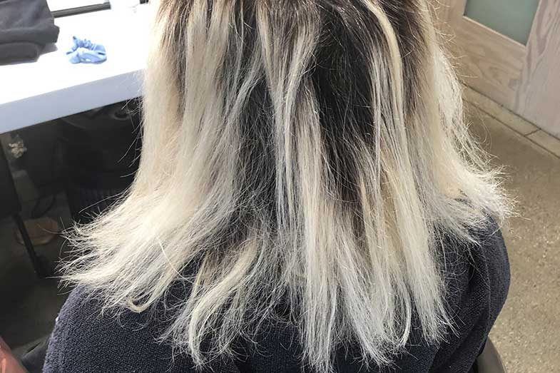 how long to leave bleach in hair 20 vol