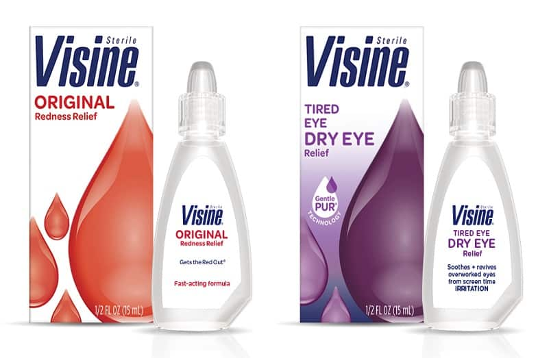 can you use visine eye drops with contacts