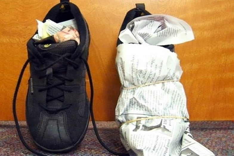 how to dry your shoes