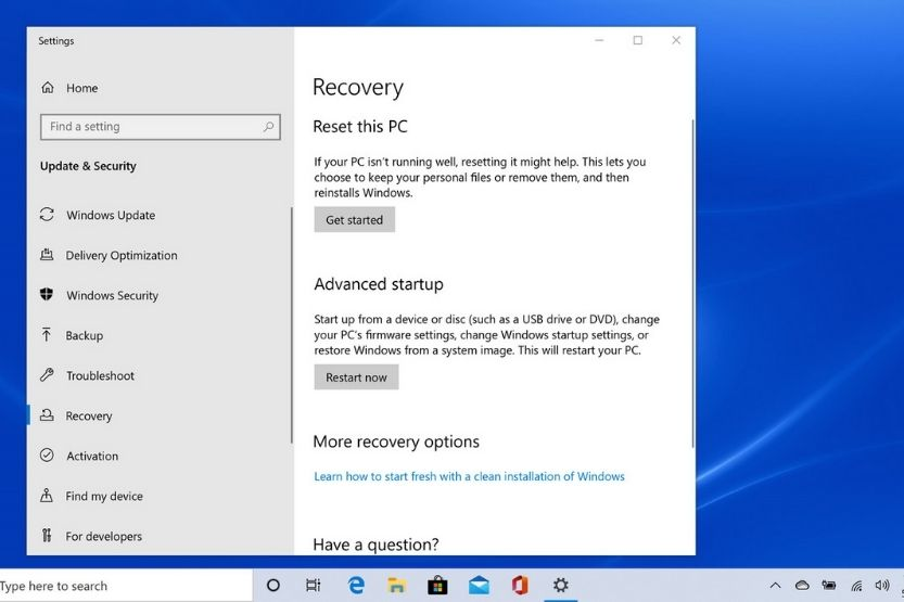 how long does a factory reset take windows